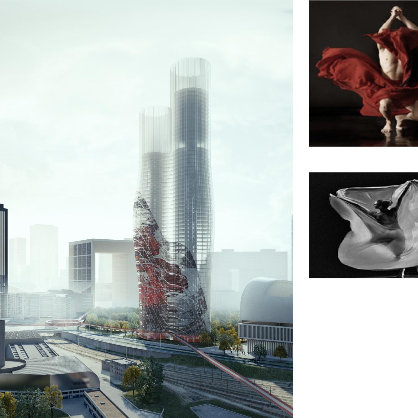 paris jardins de l 39 arche tower 225m 180m pro. Black Bedroom Furniture Sets. Home Design Ideas