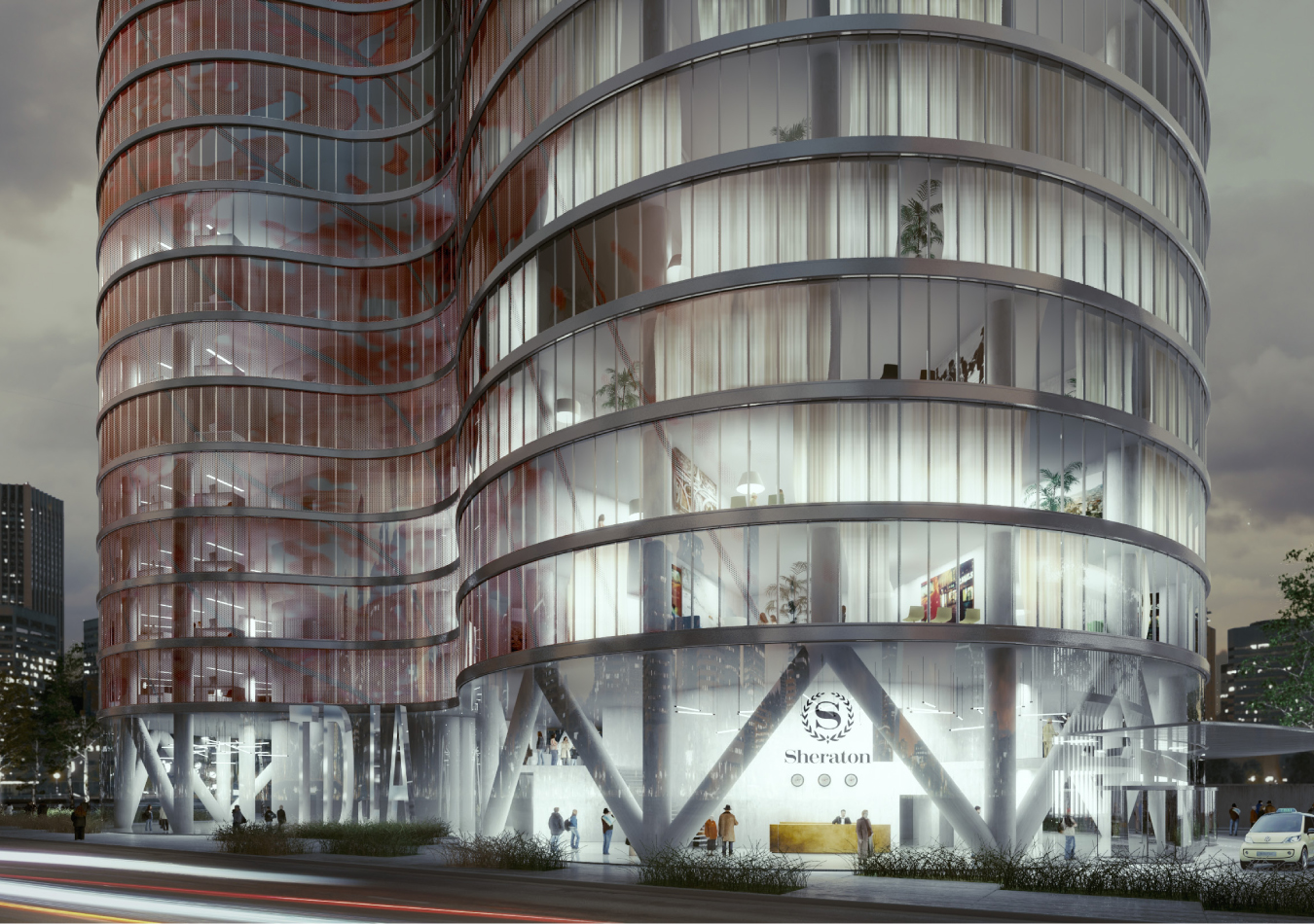 paris tour jardins de l 39 arche 656 ft 54 floors. Black Bedroom Furniture Sets. Home Design Ideas
