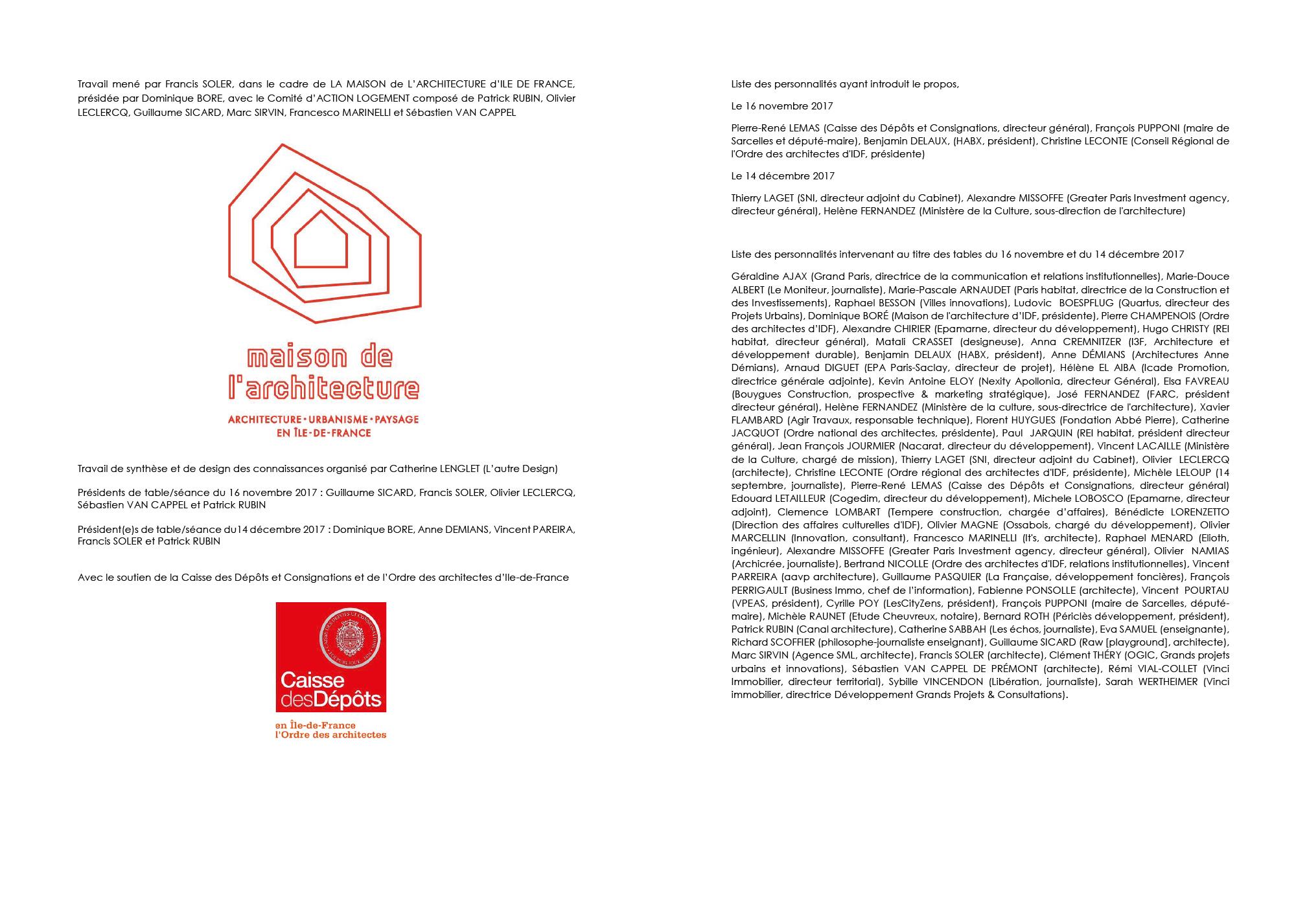 Liste Ordre Des Architectes francis soler architecte